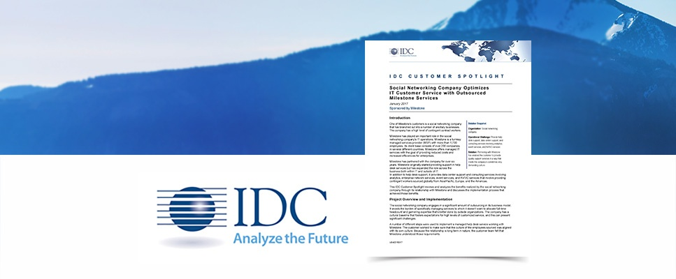 IDC Customer Spotlight: Optimizing IT with Milestone Services